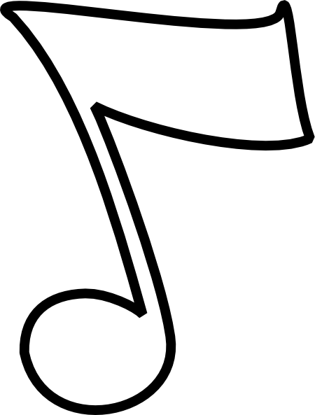 Music note png white. Musical b and w