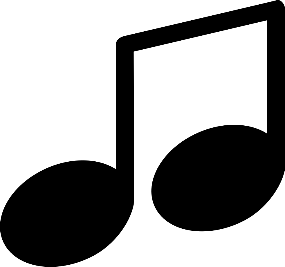 Music note symbol png. Svg icon free download