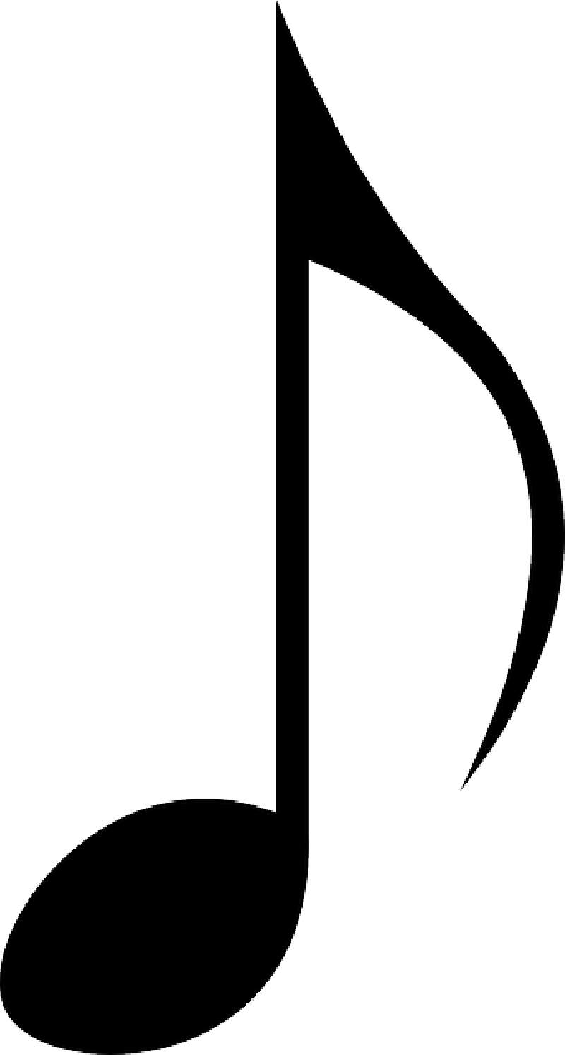 Music note white png. Collection of clipart