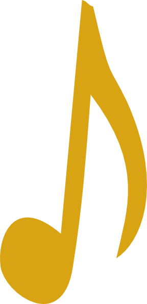 Music notes _ png. Golden clipart note pencil