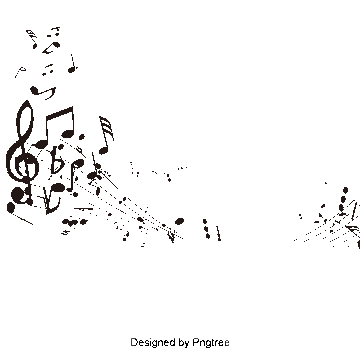 Vector notes calligraphy. Music png vectors psd