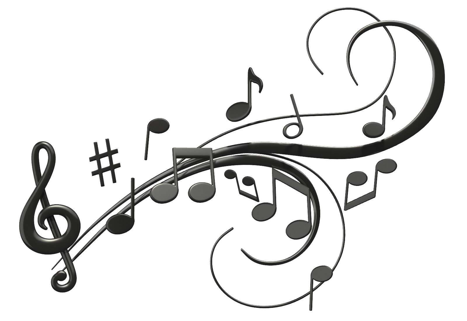 Music notes background png.