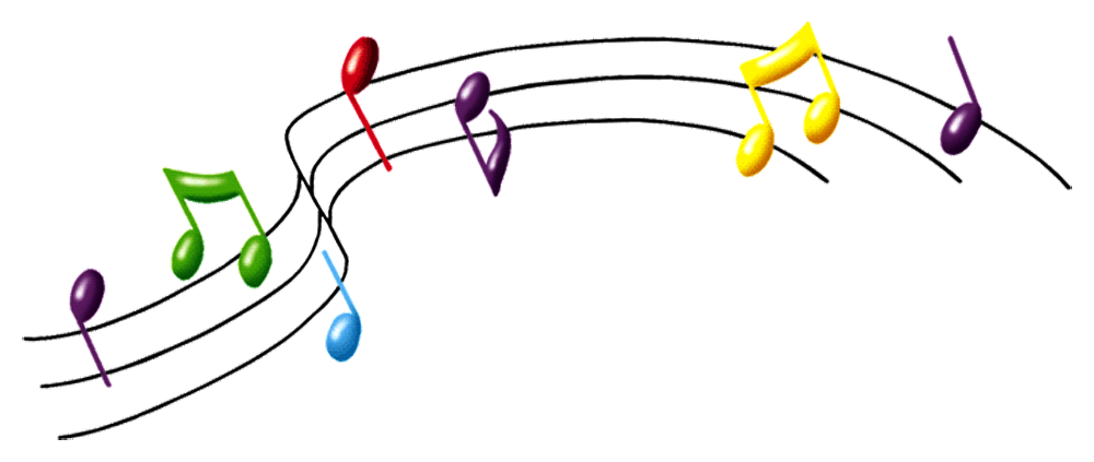 Colorful musical notes png. Transparent images all image