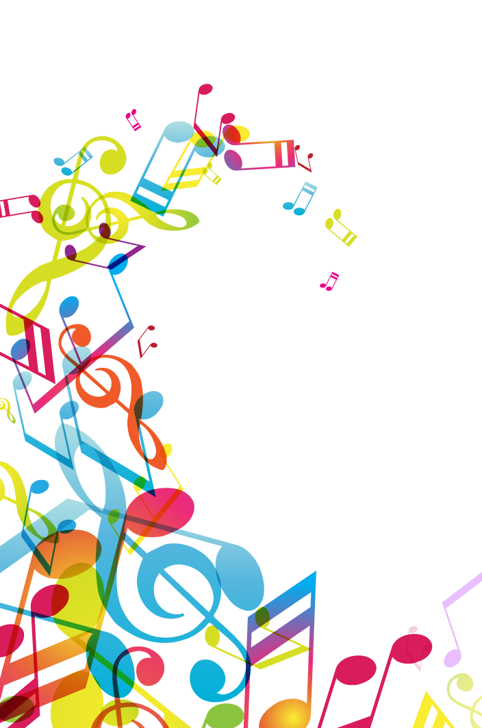 Music notes border png. Musical note poster borders
