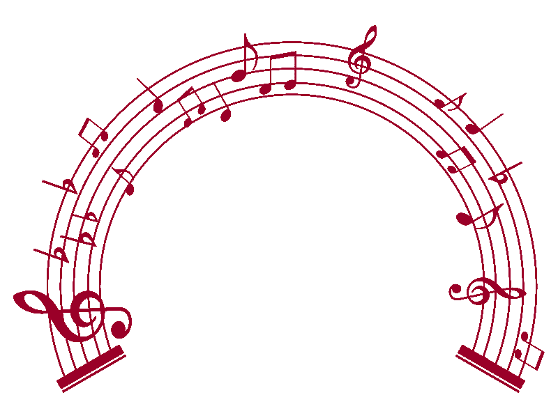 music notes frame png