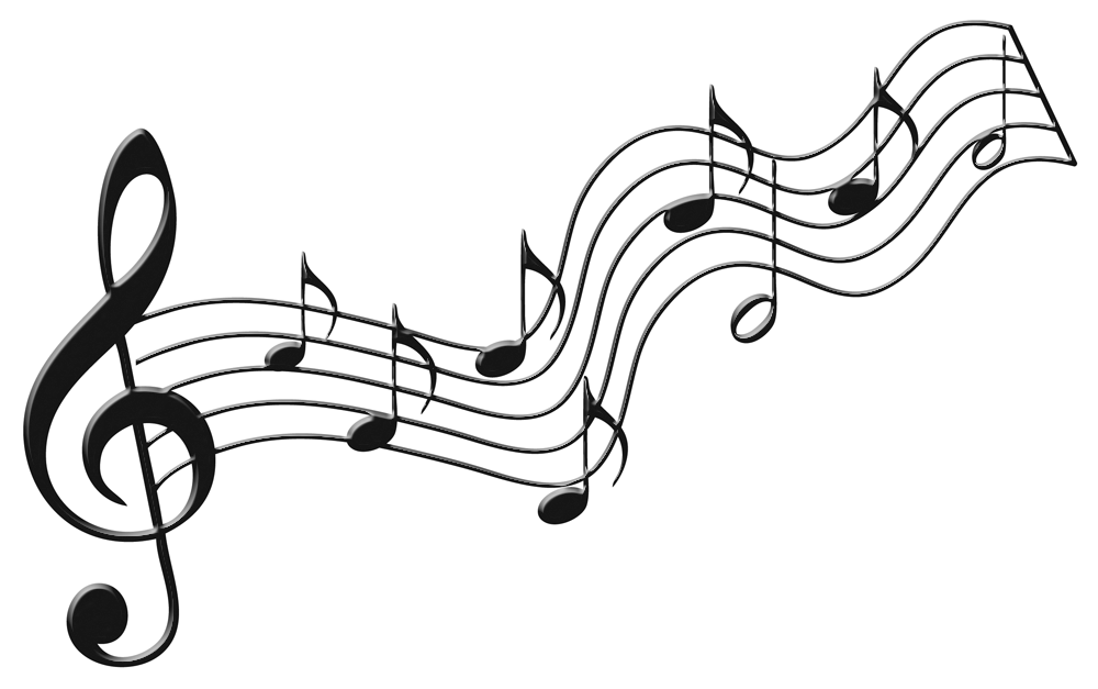 flowing musical notes png