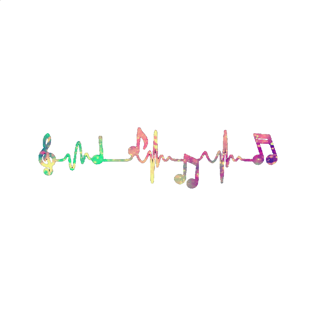 Music notes colorful png. Ftestickers musicnotes cute girly