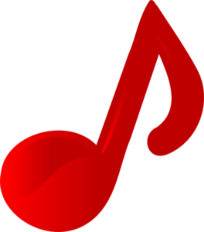 Note red images clip. Music notes colorful png image