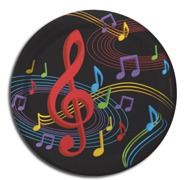 Music notes disco ball png file. Musical party supplies just