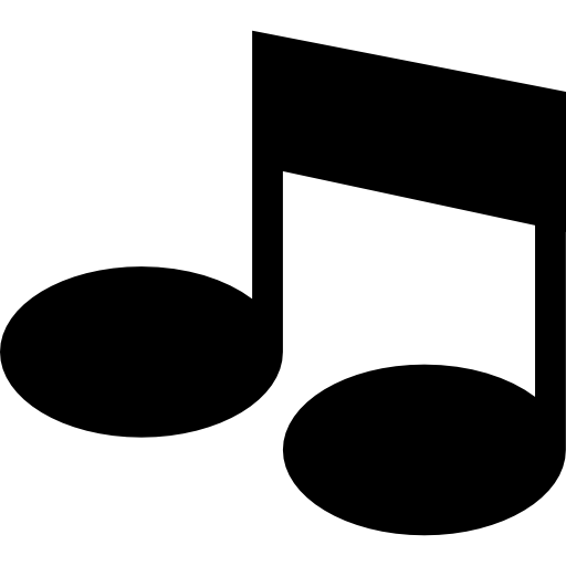 Music notes disco ball png file. Thick double note free