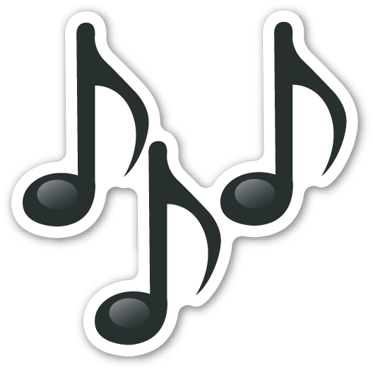 Emoticon musical notes png. Musik clipart music note