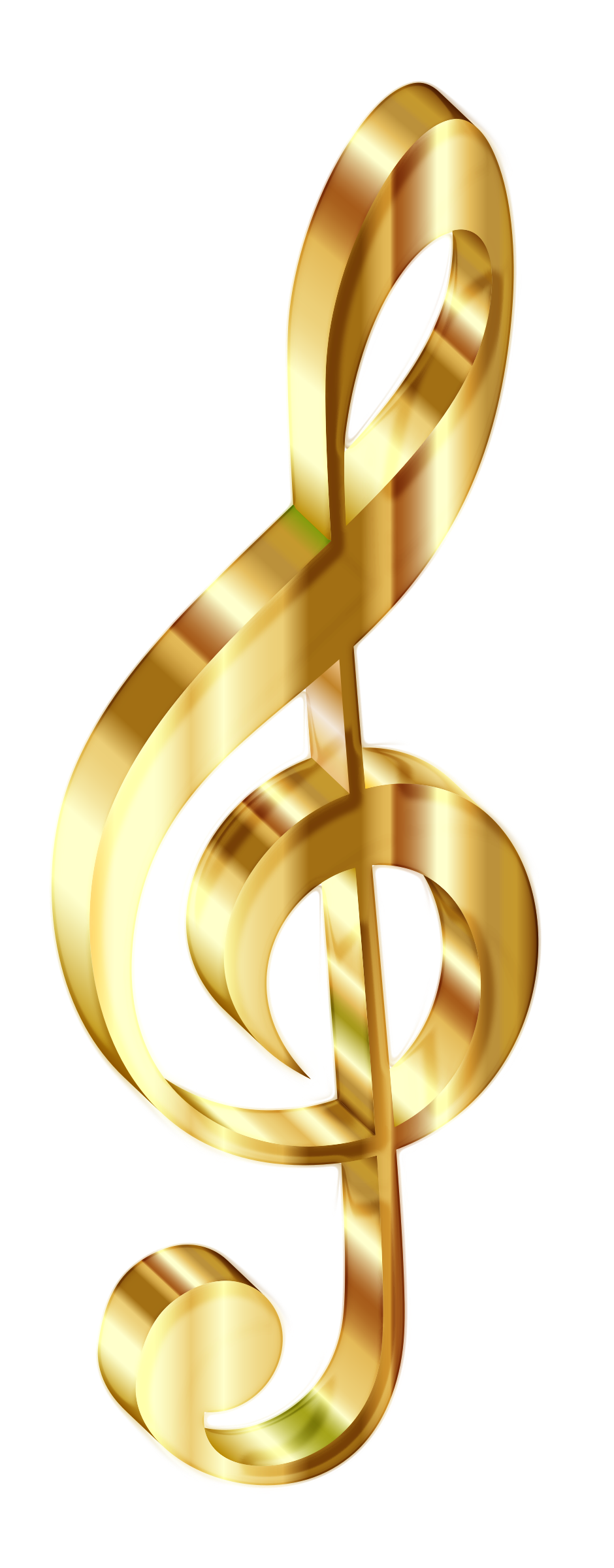 Music notes gold png. Clipart d clef enhanced