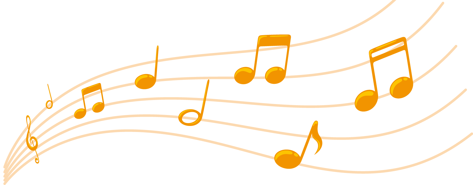 Music notes gold png