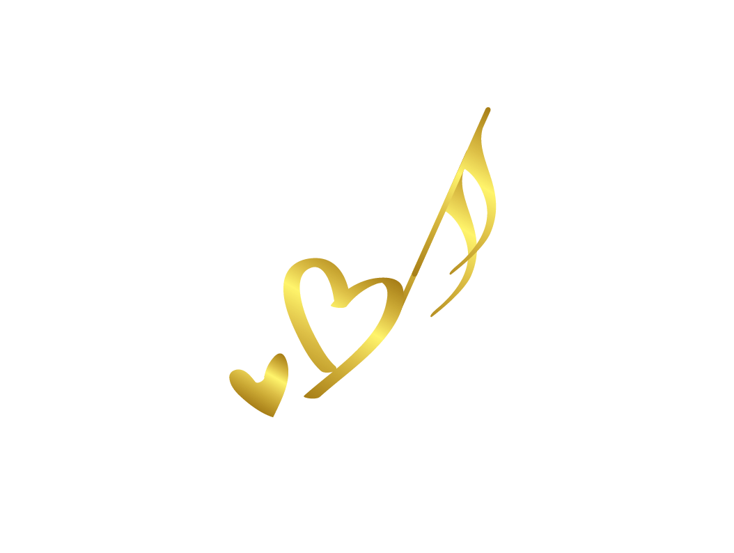Music notes gold png. Design free logo heart