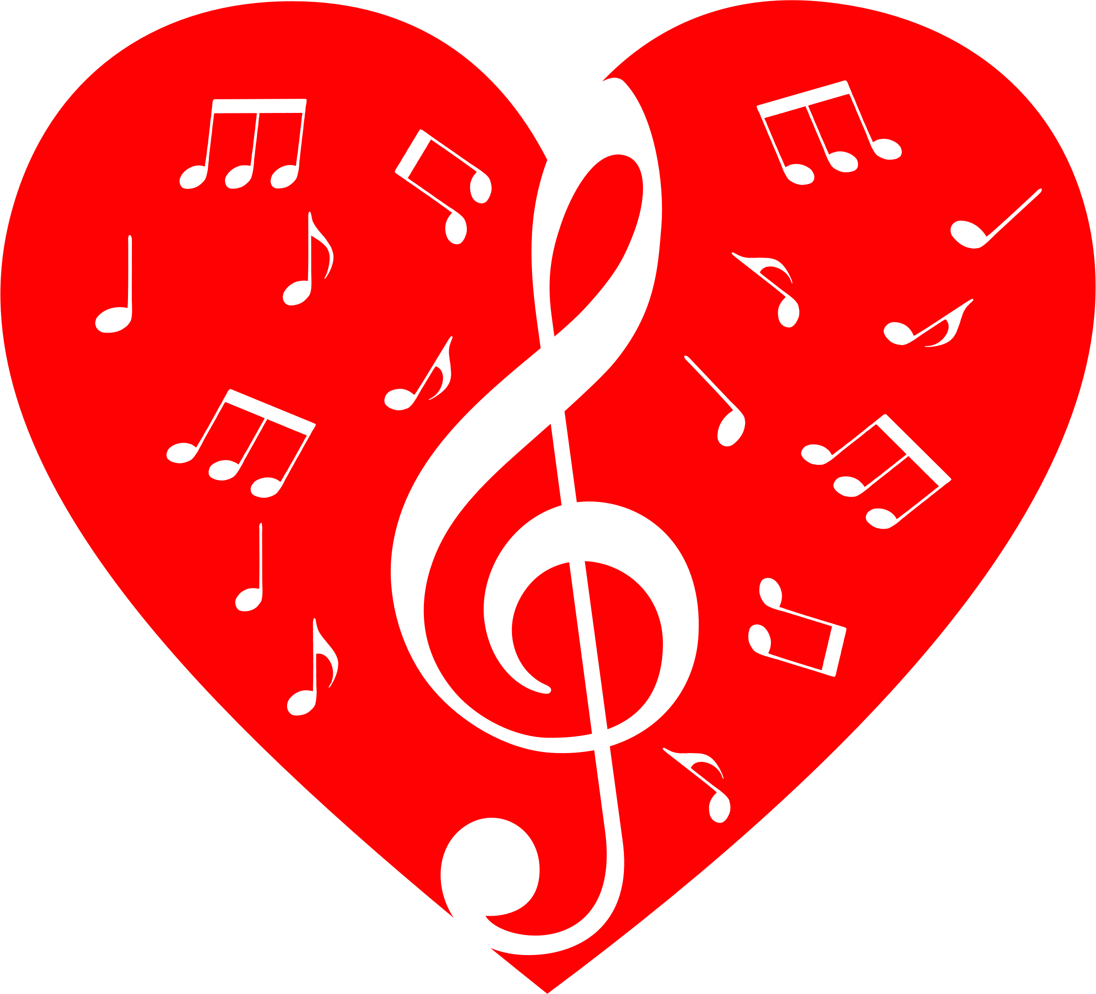 Music notes heart png. Musical icons free and