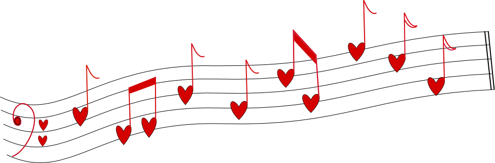 Music notes heart png. Musical note song transprent