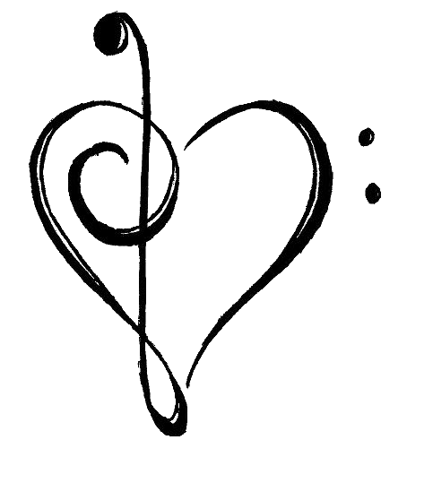 Music notes heart png. Birthday tattoo with awake