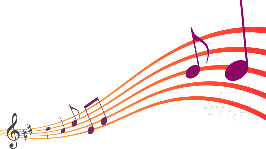 Colourful music transparent stickpng. Colorful musical notes png vector free
