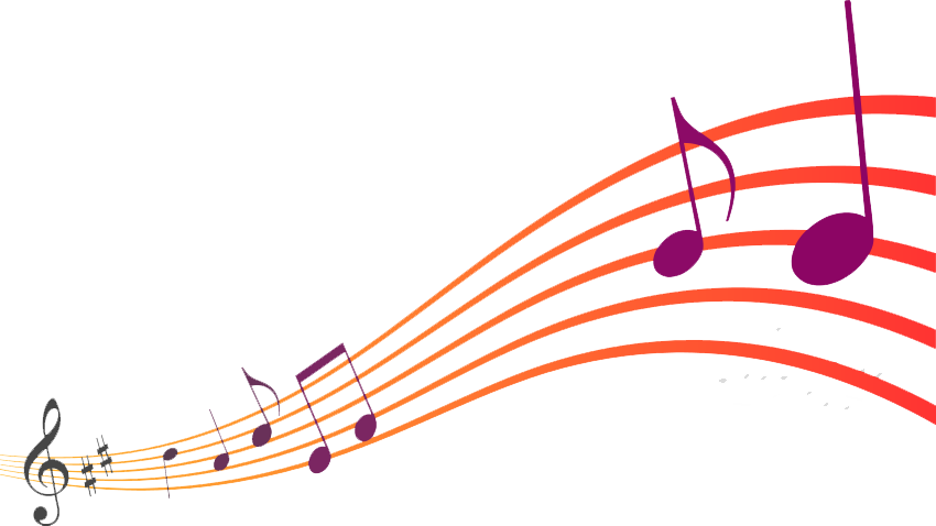 Music notes wave png. Transparent images all