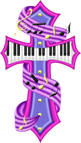 Music notes with cross png. Kristin skull rawker instruments