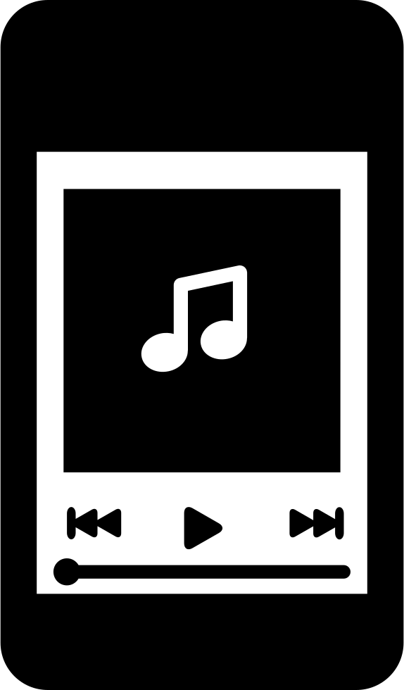 Music player png. Iphone svg icon free