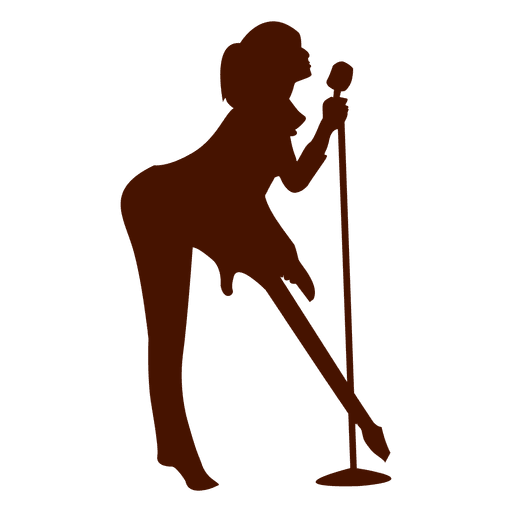 Singer silhouette png. Music musician transparent svg