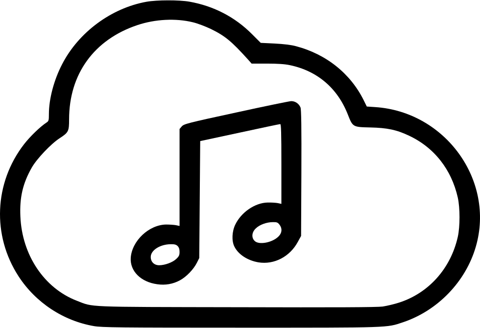 Music streaming logos png. Playing cloud stream svg