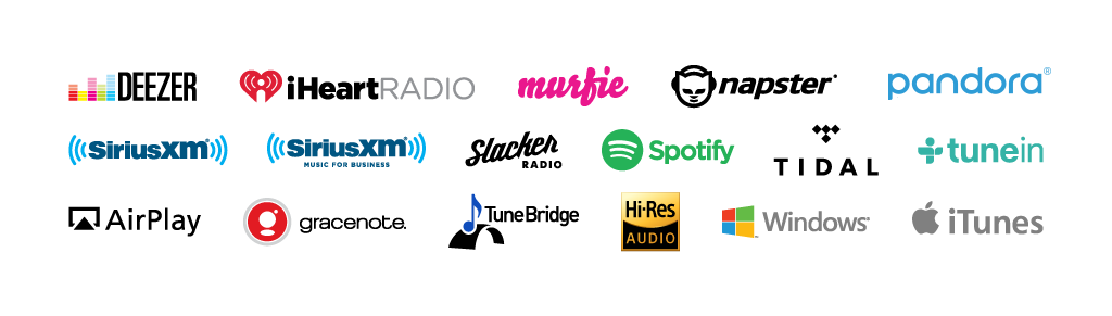 Music streaming logos png. Automonic media servers connect