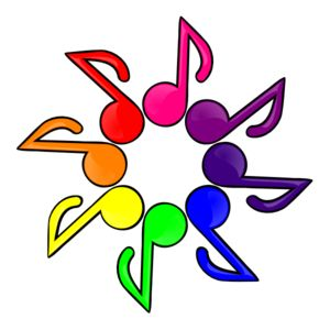 Musical clipart colorful. Music notes clip art