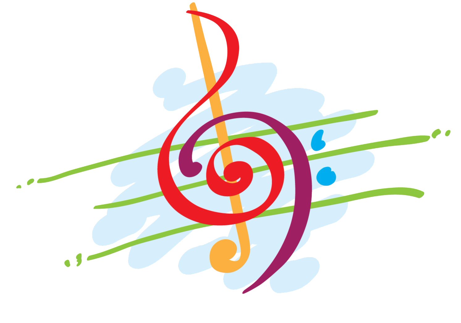Musical clipart colorful. Image of music notes