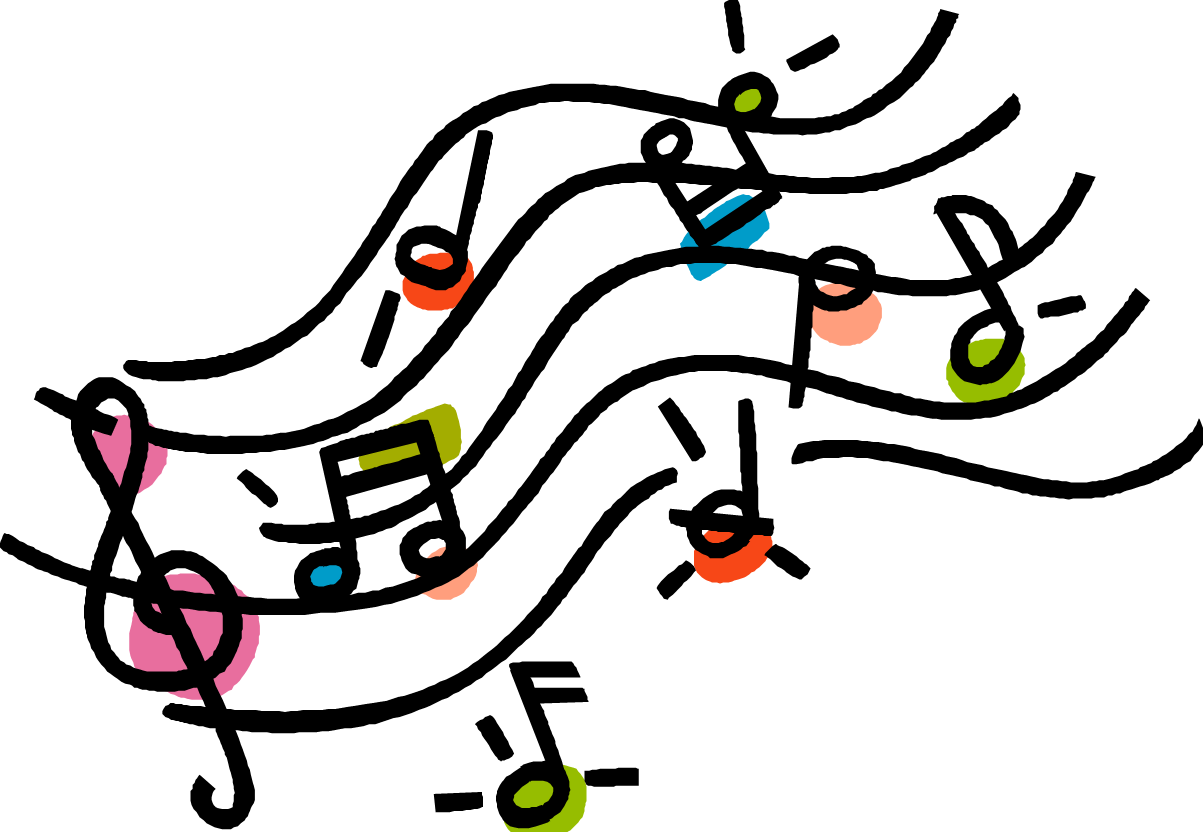 music notes cartoon png