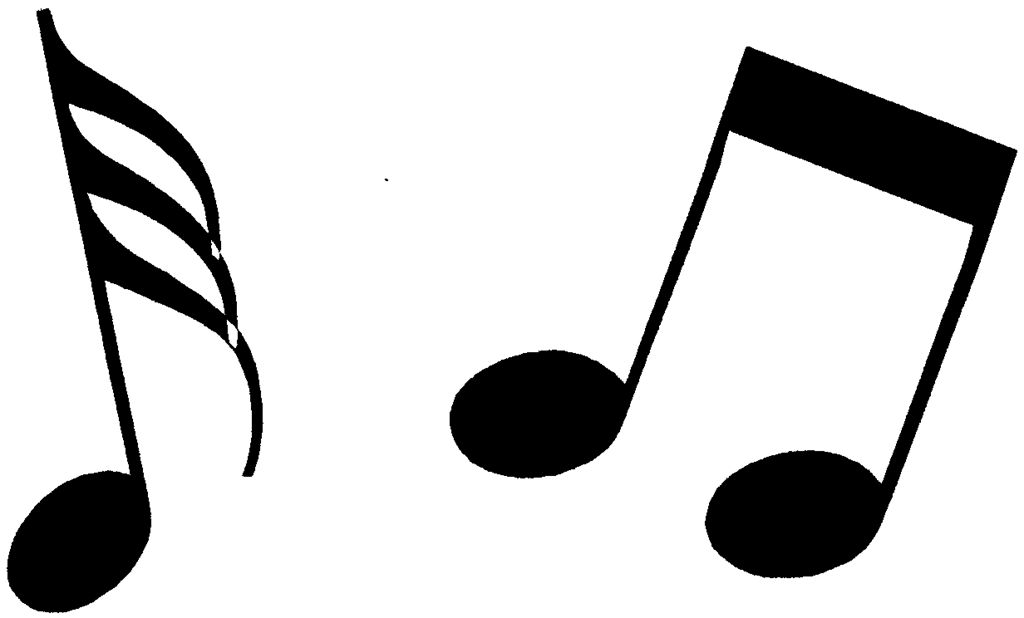 Music note clip art. Notes clipart picture freeuse library