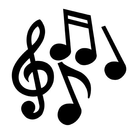 Musical clipart musica. Printable images notes universal