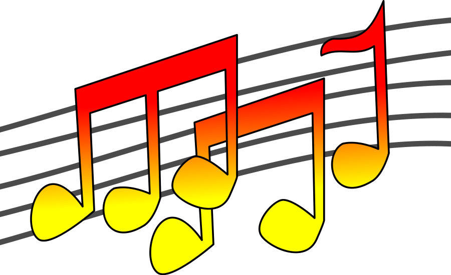 Musical clipart musica. Music notes clip art