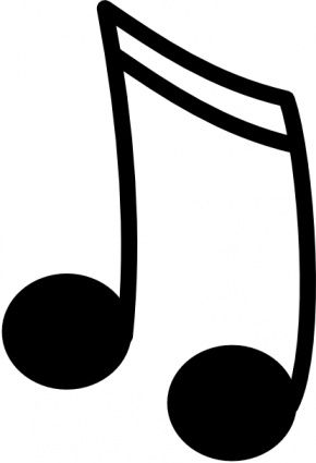 Music note projects to. Notes clipart vector library