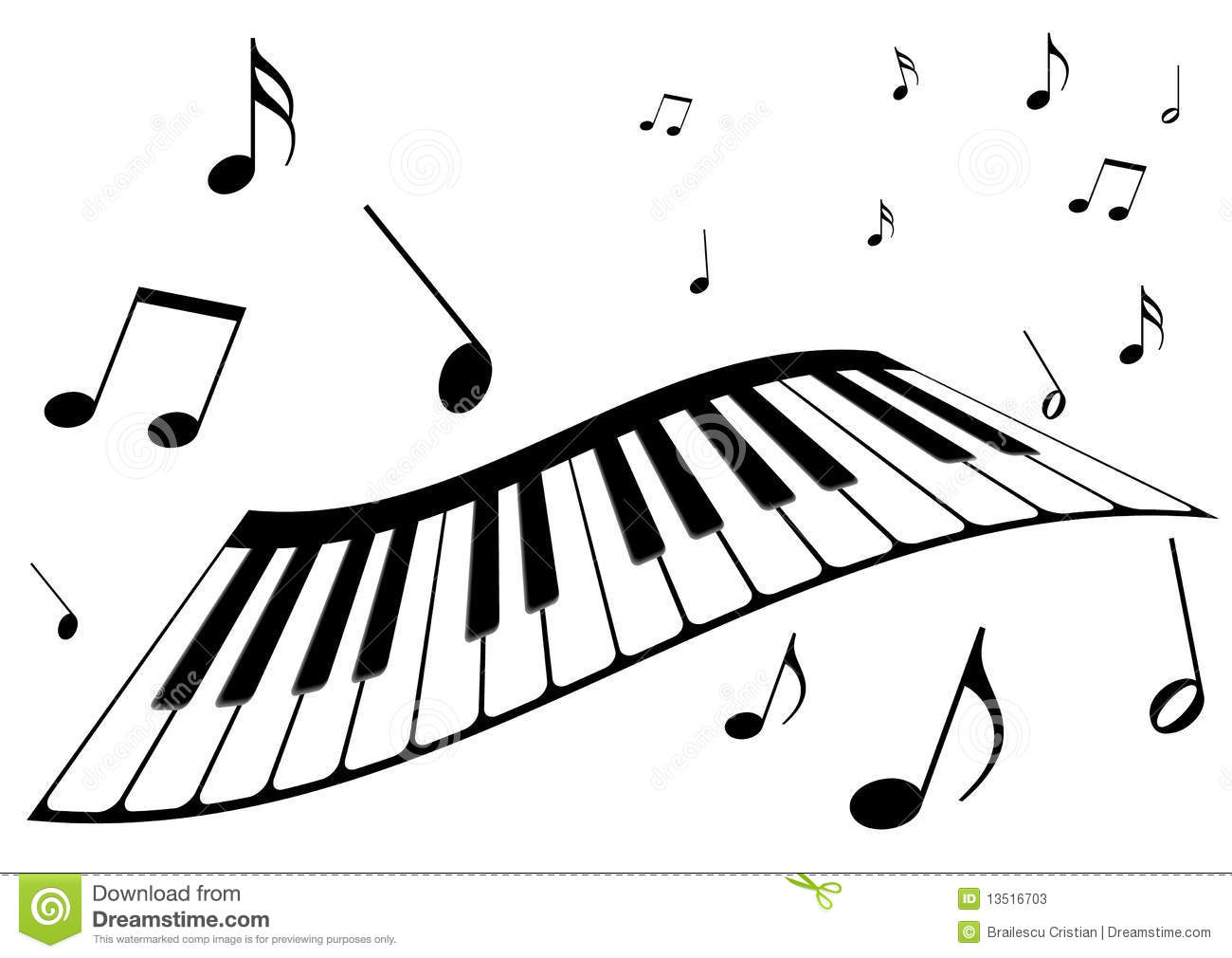 Musical clipart piano. Music note
