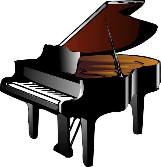 Keyboard and grand. Piano clipart svg royalty free stock
