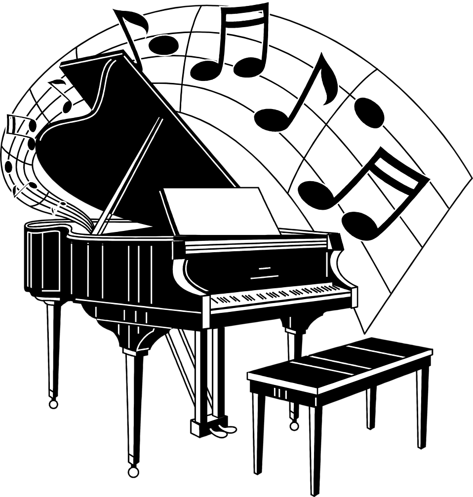 musical clipart piano