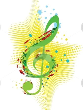 Musical clipart spring. Music stock vector by