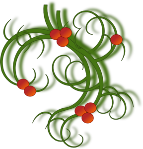 Musical clipart swirl. Christmas swirls with holly