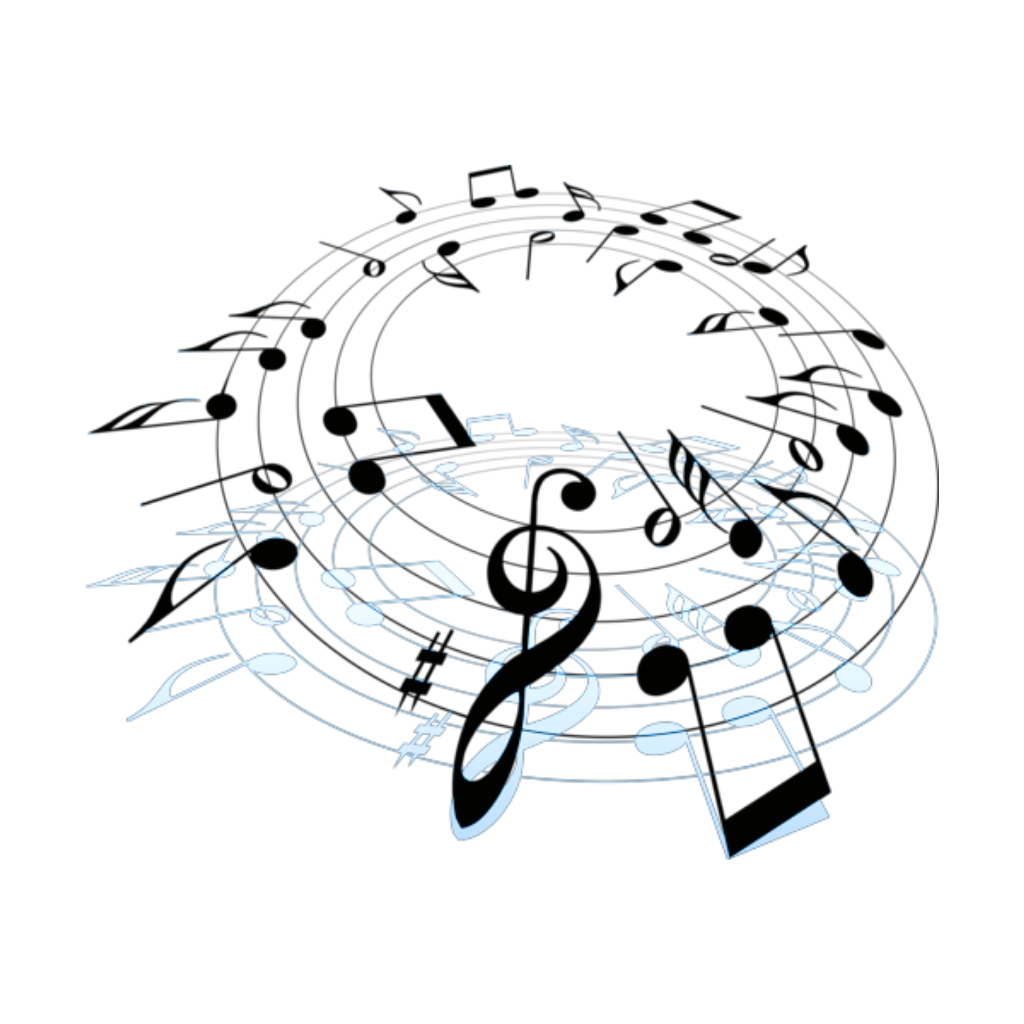 Musical clipart swirl. Mq note notes music