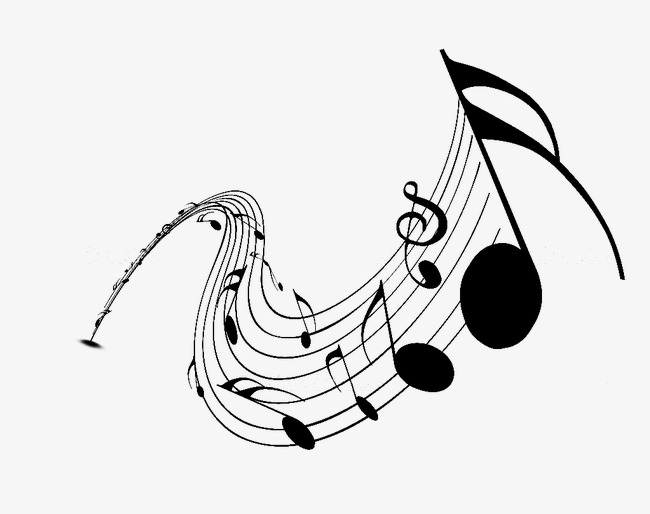 Musical clipart swirl. Music note clef png