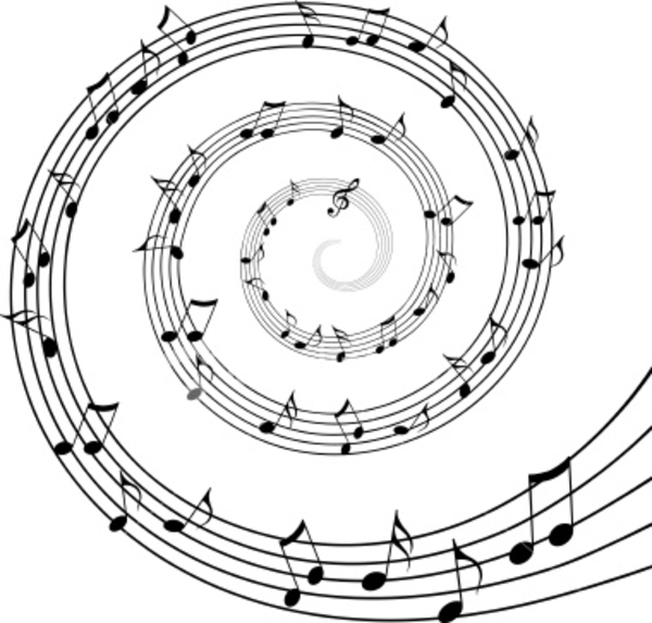 Musical clipart swirl. Music free images at