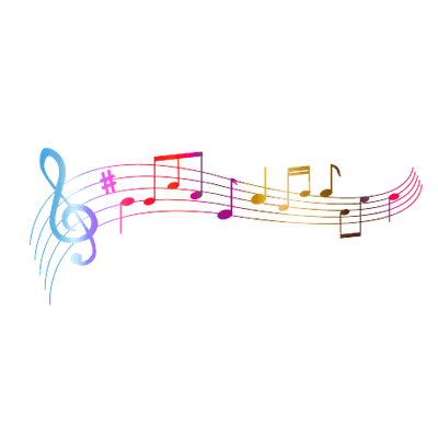 Musical notes background png. Colourful music transparent stickpng