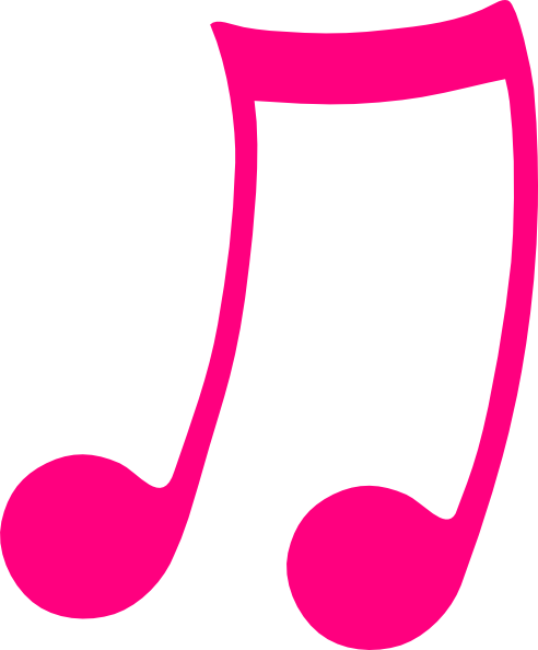 Pink note clip art. Musical notes clipart png clip black and white stock