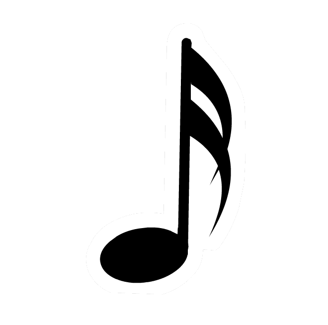 Musical notes images png. White music note clipart