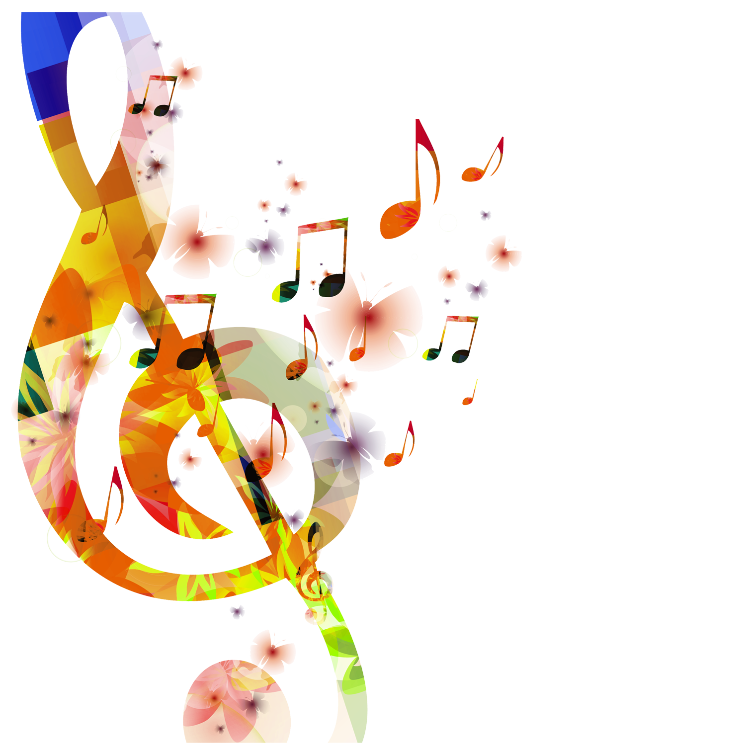 Music png. Colour notes free download