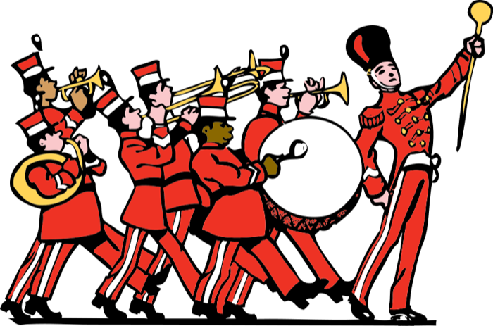 Musician clipart band member. Free music marching