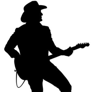 Musician clipart country fair. Silhouttes guitar player image