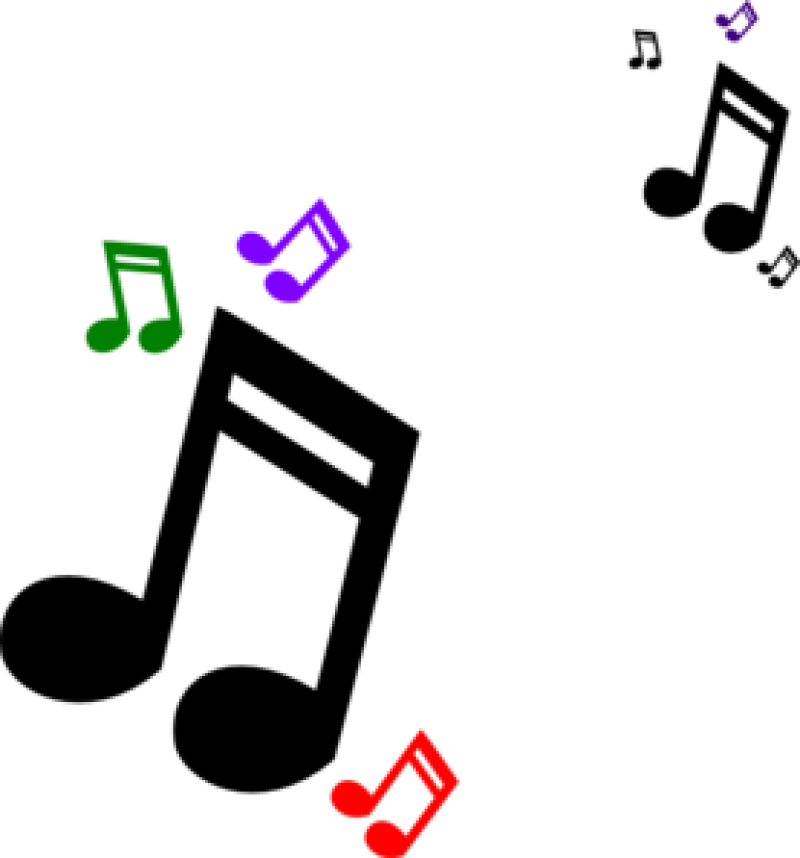 Free clipart musical jpg. Colorful music notes on a staff png vector freeuse library